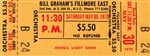 Joshua Light Show Original Fillmore East Concert Ticket