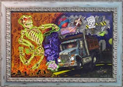 Jeral Tidwell Next Exit Roadkill Hell Original Painting