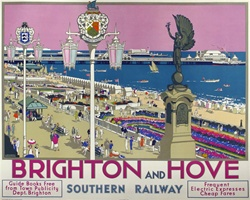 Brighton And Hove Original Advertising Poster