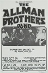 Allman Brothers Band Concert Poster