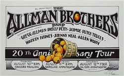 Allman Brothers 20th Anniversary Concert Poster