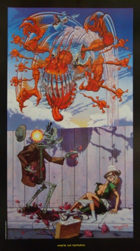 Robert williams appetite for destruction poster lowbrow for Art and appetite american painting culture and cuisine