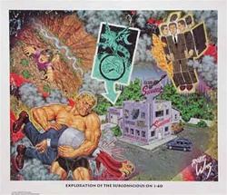 Robert Williams Exploration of the Subconscious on I-40 Limited Edition Lithograph