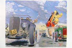 Robert Williams Hot Rod Race Poster