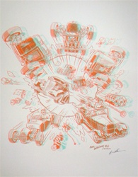 Robert Williams Rods a Poppin Limited Edition Lithograph