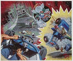 Robert Williams A White Knuckle Ride for Lucky St. Christopher Limited Edition Lithograph