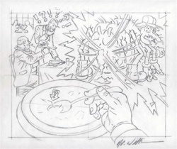 Robert Williams A Hair in the Soup Original Drawing
