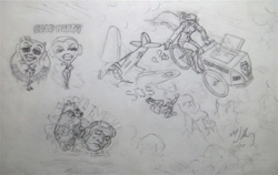 Robert Williams Apathy Cicle Original Drawing