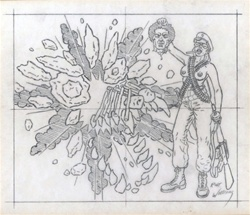 Robert Williams Coup D'Etat Totem Original Drawing