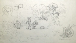 Robert Williams Repository of all Lost Things Original Drawing