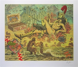 Robert Williams Queen of Atlantis Limited Edition Lithoscreen