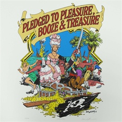 Robert Williams Pledged to Pleasure Booze and Treasure Limited Edition Print
