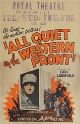 All Quiet on the Western Front US Window Card