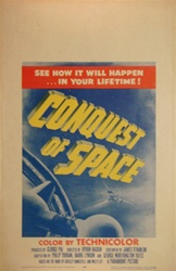 Conquest of Space US Window Card