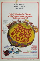 Around the World In 80 Days US Window Card
