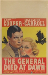 The General Died At Dawn US Window Card