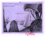 Charles Wish Dead Meadow 4 Original Drawing