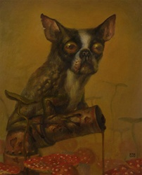Martin Wittfooth Aesop's Folly XVI Original Painting