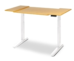 Environmentally Friendly Bamboo Wing Top for the best standing desk on the market, the Jarvis.