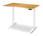 Environmentally Friendly Bamboo Top for the best standing desk on the market, the Jarvis.