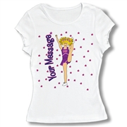 Cheer Heel Stretch Pose Baby Doll tee