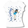 Ice Skate Chinese Spiral Baby Doll Tee