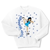 Ice Skate Chinese Spiral Crewneck Fleece