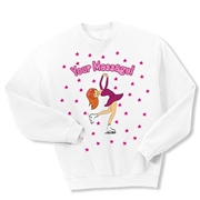 Ice Skate Layback Crewneck Fleece