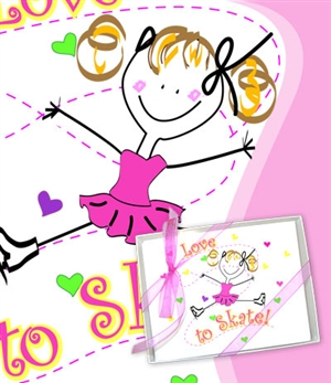 Ice Skate Love to Skate Stationary