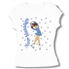 Ice Skate Picture perfect Baby Doll Tee