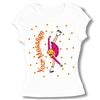 Ice Skate Spiral Baby Doll Tee