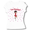 Ice Skate Scratch Spin Baby Doll Tee