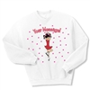 Ice Skate Scratch Spin Crewneck Fleece