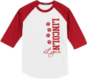 Lincoln Elementary Desing C Baseball Jersey Tee