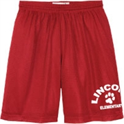 Lincoln Elementary Desing E Mesh Gym Shorts