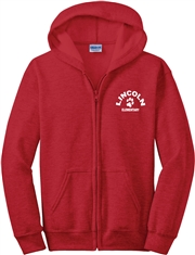 Lincoln Elementary Embroidered Full Zip Hoodie