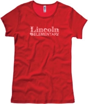 Lincoln Elementary Rhinestone Girls/Ladies Tee