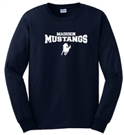 Madison Navy Long Sleeve Tee Design A