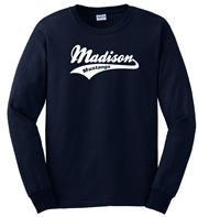 Madison Navy Long Sleeve Tee Design B