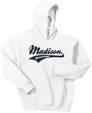 Madison White Hoodie Design B