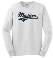 Madison White Long Sleeve Tee Design B