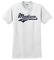 Madison White Tee Design B