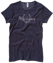 Madison Navy Rhinestone Tee