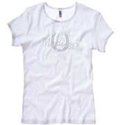 Madison White Rhinestone Tee