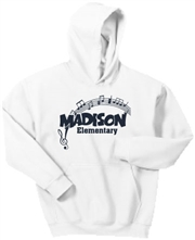 Madison White Hoodie Design C