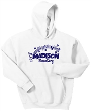 Madison White Hoodie Design E