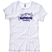 Madison White Tee Design E