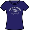 Silver Stars Synchro Navy SS Tee