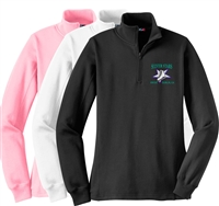 Silver Stars Synchro Ladies 1/4 zip Fleece