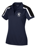 Sierra Staff Ladies Tricolor Shoulder Micropique Sport-Wick® Polo